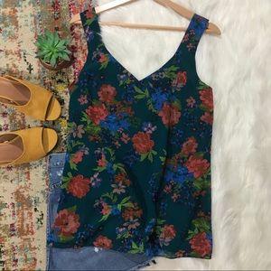 Cabi • Floral Sheer Sleeveless Blouss